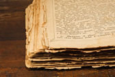Open antique book — Stock Photo