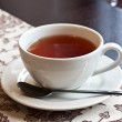 Tea cup with saucer — Stock Photo