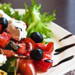 Greek Mediterranean salad — Stock Photo