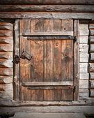 Holztür — Stockfoto