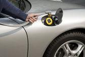 Recharging electric car — Stock Photo