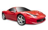 Izole kırmızı spor araba — Stok fotoğraf