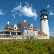 Truro lighthouse on Cape Cod - Stock Photo