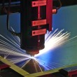 Industrial laser cutter — Stock Photo