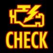 controllare la luce del motore — Foto Stock