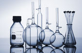 Chemistry recipients — Stock Photo
