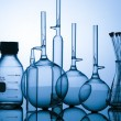 Glass chemical lab containers — Stock Photo