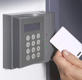Electronic door lock — Stock Photo