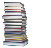 Books stacked, isolated — Stock Photo