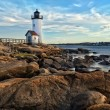Annisquam lighthouse - Stock Photo