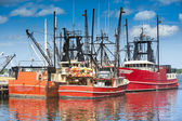 Commercial fishing boats — Stock Photo