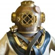 Diving helmet and suit, isolated — Stock Photo