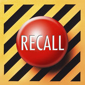 Recall button — Foto de Stock