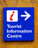 Tourist information Sign — Stock Photo