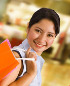 Woman In A Shopping Mall — Foto Stock