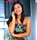Young Woman In An Airport — Stock Photo
