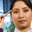 Businesswoman In An Airport — Stockfoto