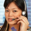 Stock Photo: Hotline Assistant On Phone