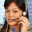 Hotline Assistant On The Phone — Stock Photo #5847644