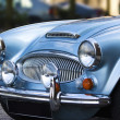 A classic shiny metallic blue sports car — Stock Photo #6414038