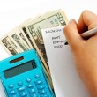 Calculating The Household Budget — Stock Photo