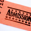 Stock Photo: Admission Ticket For Show Or Theater