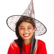 Cute Girl Dressed As A Witch - Stock Photo
