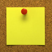 Post-it nota con copyspace — Foto de Stock