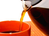 Pouring A Cup Of Coffee — Stock Photo