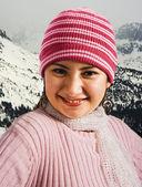 Mujer caliente con un sombrero y bufanda — Foto de Stock