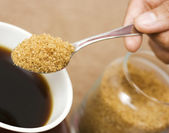 A spoonful of brown sugar — Stock Photo