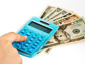 Calculating Expenses On A Calculator — Stock Photo
