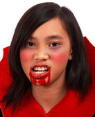 Girl Dressed As A Vampire — Stock Photo