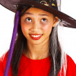 Stock Photo: Young Witch With Broomstick