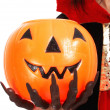 Pumpkin For Trick Or Treat — Stock Photo