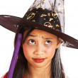 Witch Costume On A Small Girl — Stock Photo
