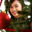 Happy Girl Celebrating Christmas — Stock Photo