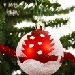 Christmas Ball Hanging On A Tree — Stock Photo