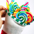 Twisted Colored Candy For Christmas — Stock Photo