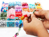 Choosing Beads For A Unique Necklace — Stock Photo