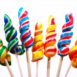 Sticks Of Twisted Multicoloured Candy — Stock Photo