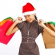 Royalty-Free Stock Photo: Happy Girl On A Christmas Shopping Spree