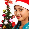 Pretty Girl Celebrating Christmas — Stock Photo