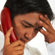 Busy Worker On The Telephone — Stock Photo