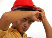 Exhausted Construction Worker — Stock Photo