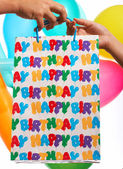Happy Birthday Gift Or Present — Stock Photo