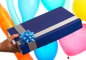 Receiving Birthday Gift Or Present — Stock Photo