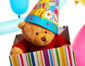 Teddy Bear Birthday Gift Or Present — Stock Photo