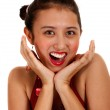 Happy Girl Smiling And Laughing — Stock Photo