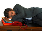Tired Businessman Lying On His Desk — Stock Photo